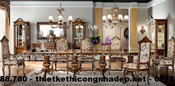 Bàn ghế ăn cổ điển Châu Âu BGACD7