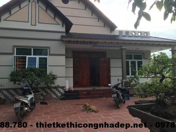 Biệt thự 1 tầng đã hoàn thiện tại Vĩnh Phúc