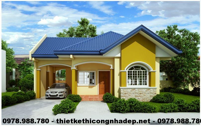 Thi t k ki n tr c nh c p 4 p for Bungalow house with firewall