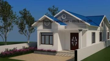 Thiết kế mẫu nhà cấp 4 mái tôn 6x20m tại Thanh Oai