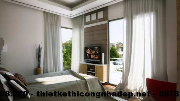 Phòng ngủ biệt thự 12x13m