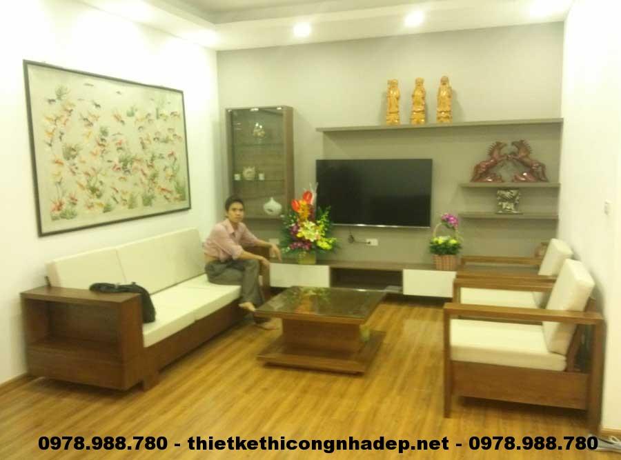 Sofa gỗ chung cư