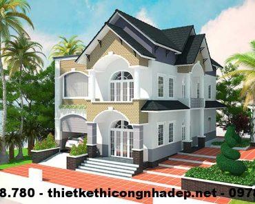 Nhà đẹp 2 tầng 12x16m