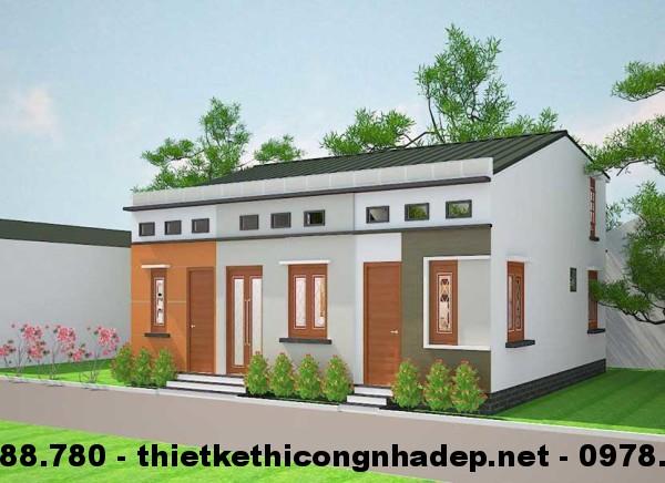 Thiết kế 3 mẫu nhà cấp 4 lợp mái tôn gác lửng 300 triệu