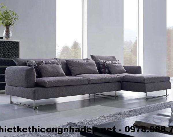 Ghế sofa nỉ đẹp, sofa nỉ phòng khách giá rẻ