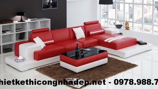 Bàn ghế sofa góc cao cấp SG1
