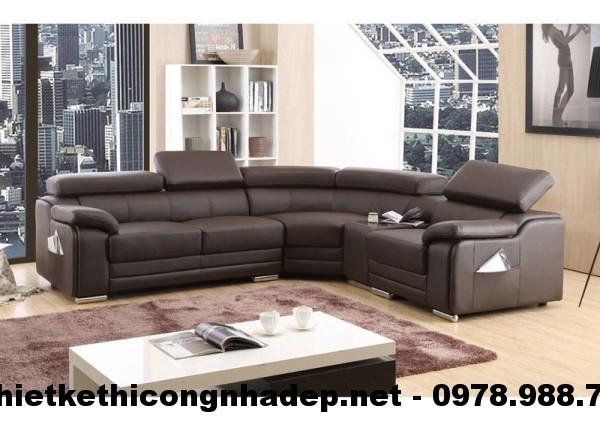 Bàn ghế sofa góc cao cấp SG5