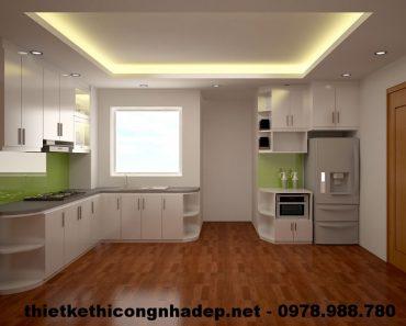 Tủ bếp chung cư gỗ Venner CT12A