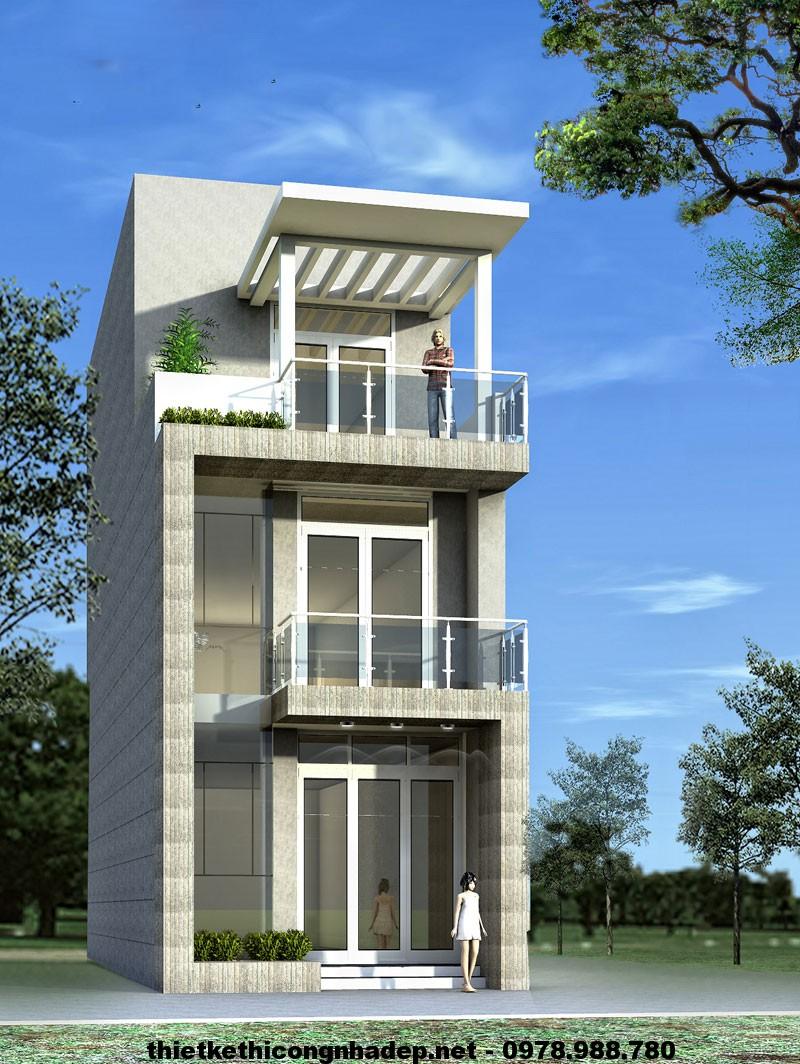 Mẫu nhà đẹp 3 tầng NDNP3T1