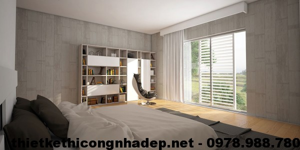 Phòng ngủ trong thiết kế nội thất chung cư hiện đại The Light
