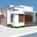 Thiết kế nhà cấp 4 mái bằng, mẫu nhà cấp 4 mái bằng đẹp NDNC47