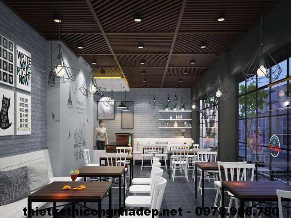 Nội thất quán cafe 40m2 NDCF1