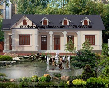 Thiết kế nhà 1 tầng đẹp NDBT1T5