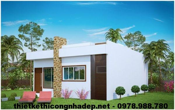 Nhà cấp 4 mái bằng NDNC410