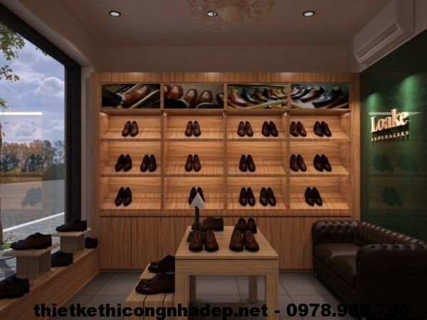 Nội thất shop giày dép NDTKS2