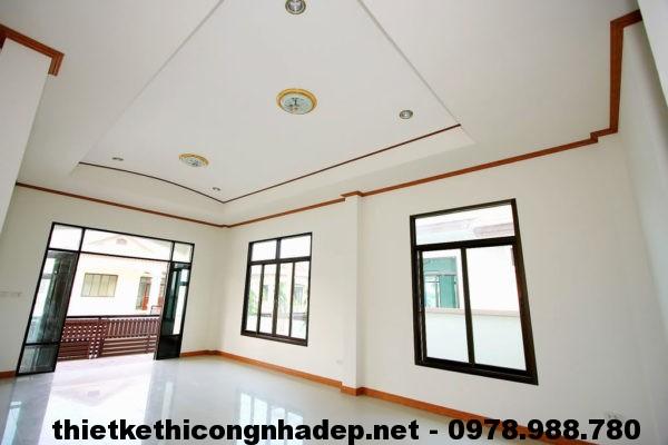 Phòng khách biệt thự vườn NDBT1T8