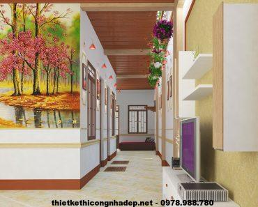Phòng khách đẹp nhà cấp 4 NDNC410