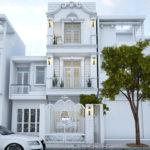 Thiết kế nhà phố cổ điển, mẫu nhà phố 3 tầng đẹp NDNP3T2