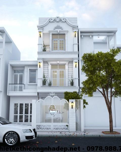 Thiết kế nhà phố cổ điển NDNP3T2