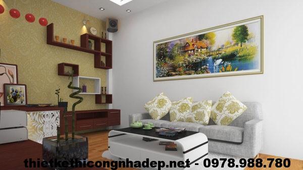 Thiết kế nội thất phòng khách, nội thất phòng khách hiện đại NDNTPK1