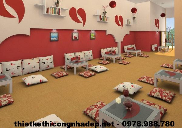 Thiết kế quán cafe bệt NDCF2