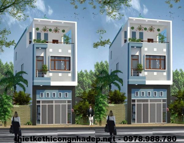 Mẫu nhà 2 tầng 4x12m NDMN2T2