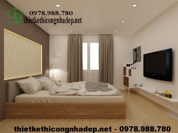 Phòng ngủ tầng 1 nhà cấp 4 gác lửng NDNC417