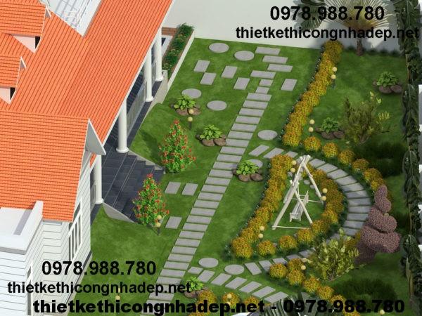 Biệt thự sân vườn hiện đại NDBT1T13