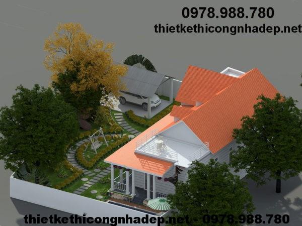 Mẫu biệt thự nhà vườn đẹp NDBT1T13