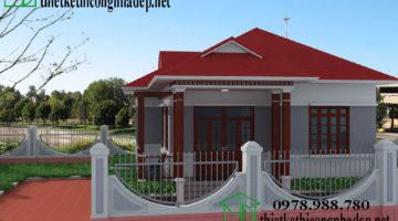 Nhà cấp 4 giá rẻ, nhà cấp 4 nông thôn đẹp giá 450 triệu NDNC418