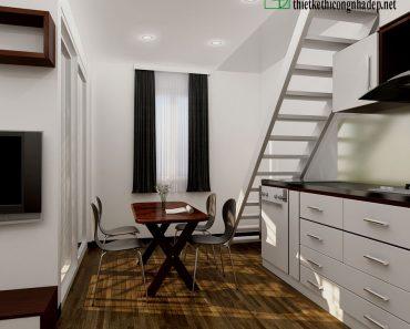 Phòng bếp và ăn chung cư mini NDNTCC2