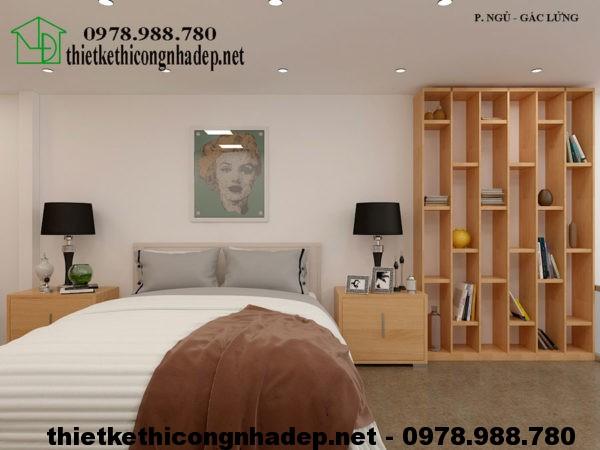 Phòng ngủ nhà cấp 4 gác lửng NDNC422