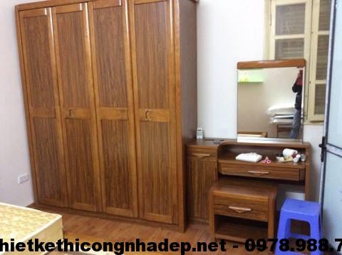 Phòng ngủ nhà tập thể cũ NDTKNT2