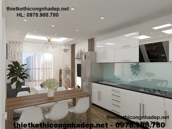 Tủ bếp chung cư đẹp NDNTCC3