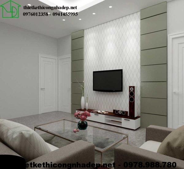 Phòng khách nhà cấp 4 đẹp NDNC424