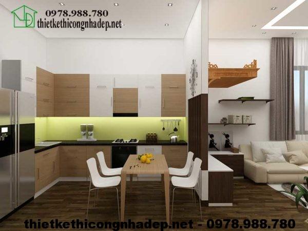 Phòng bếp biệt thự 3 tầng NDBT3T6