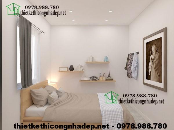 Thiết kế nội thất chung cư 60m2 với phòng ngủ tiện nghi
