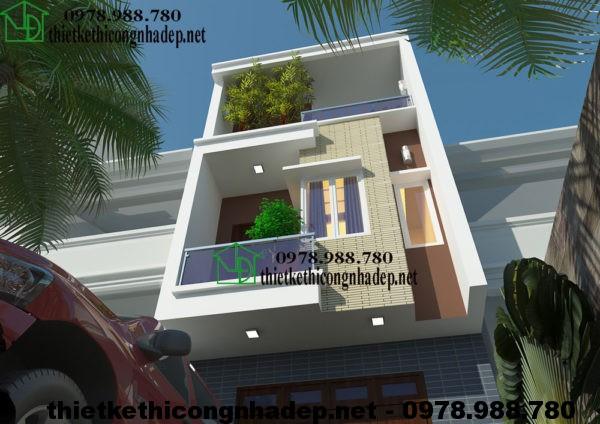 Mẫu nhà 3 tầng đẹp NDNP3T6