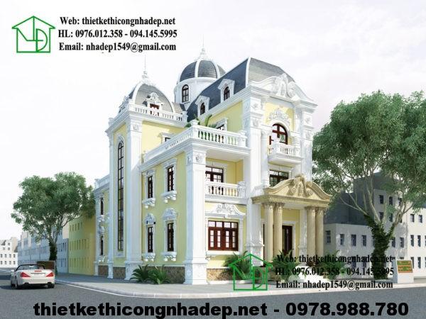 Biệt thự cổ điển Pháp, biệt thự 3 tầng cổ điển NDBTCDP2