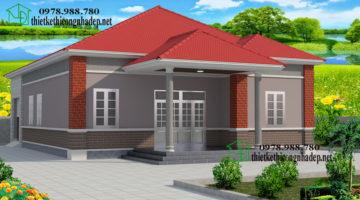 Nhà vườn 1 tầng, nhà vườn 1 tầng 4 phòng ngủ NDBT1T17