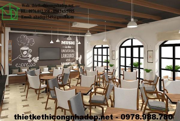 Thiết kế quán cafe đẹp NDCF3