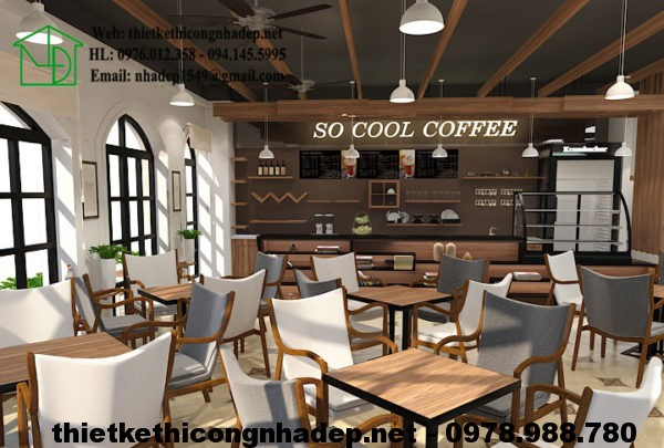 Thiết kế quán cafe tại Hà Nội NDCF3