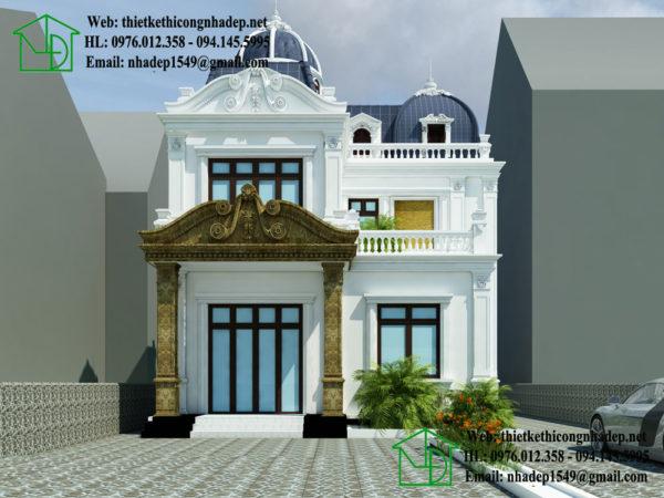 Biệt thự cổ điển 2 tầng NDBTCDP4