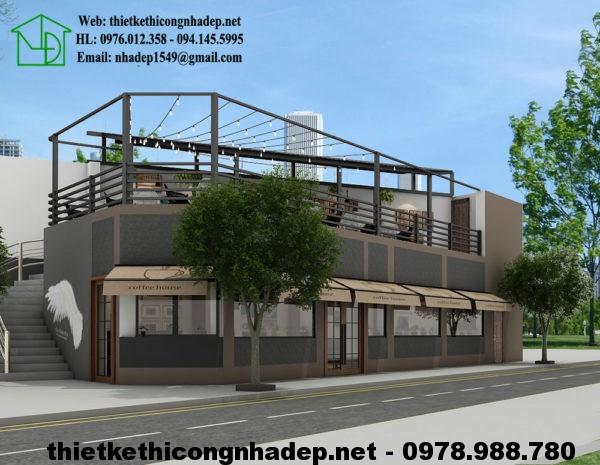 Mặt tiền quán cafe đẹp NDCF4