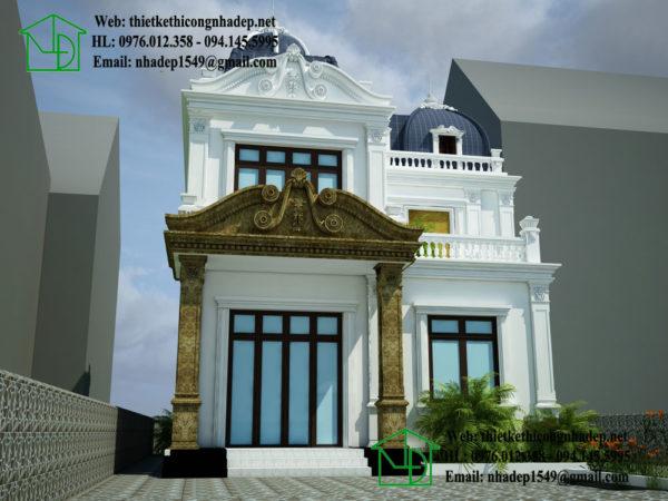 Mẫu nhà biệt thự cổ điển NDBTCDP4