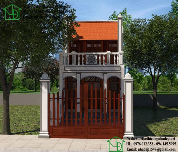 Thiết kế nhà thờ họ 2 tầng, mẫu nhà thờ họ 2 tầng NDNTH9