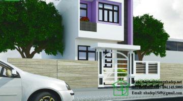 Nhà phố 2 tầng 5x12m, mẫu thiết kế nhà 5x12m 2 tầng NDNP2T1