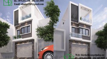 Nhà phố 3 tầng 5×20, mẫu thiết kế nhà phố 3 tầng NDNP3T8