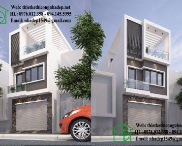 Nhà phố 3 tầng 5x20m NDNP3T8