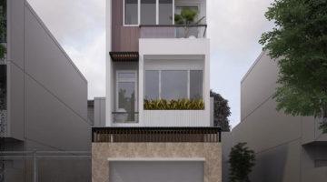 Nhà phố lệch tầng đẹp, mẫu nhà phố 3 tầng 6x18m NDNP3T9